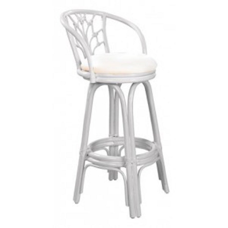 Shop Valencia Indoor Swivel Rattan And Wicker Whitewash 24 Inch With Regard To Most Recently Released Valencia 4 Piece Counter Sets With Bench & Counterstool (View 8 of 20)