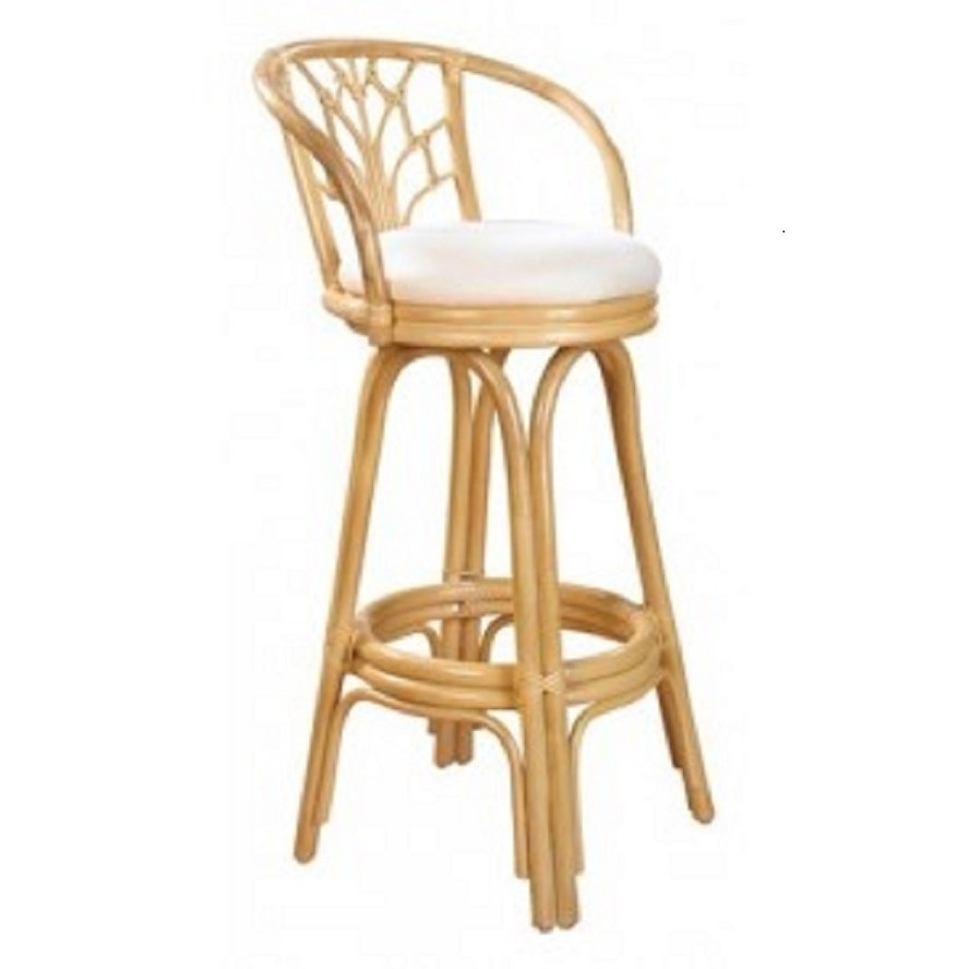 Shop Valencia Natural Finish Rattan And Wicker 24 Inch Indoor Swivel Regarding Most Up To Date Valencia 4 Piece Counter Sets With Bench & Counterstool (View 3 of 20)