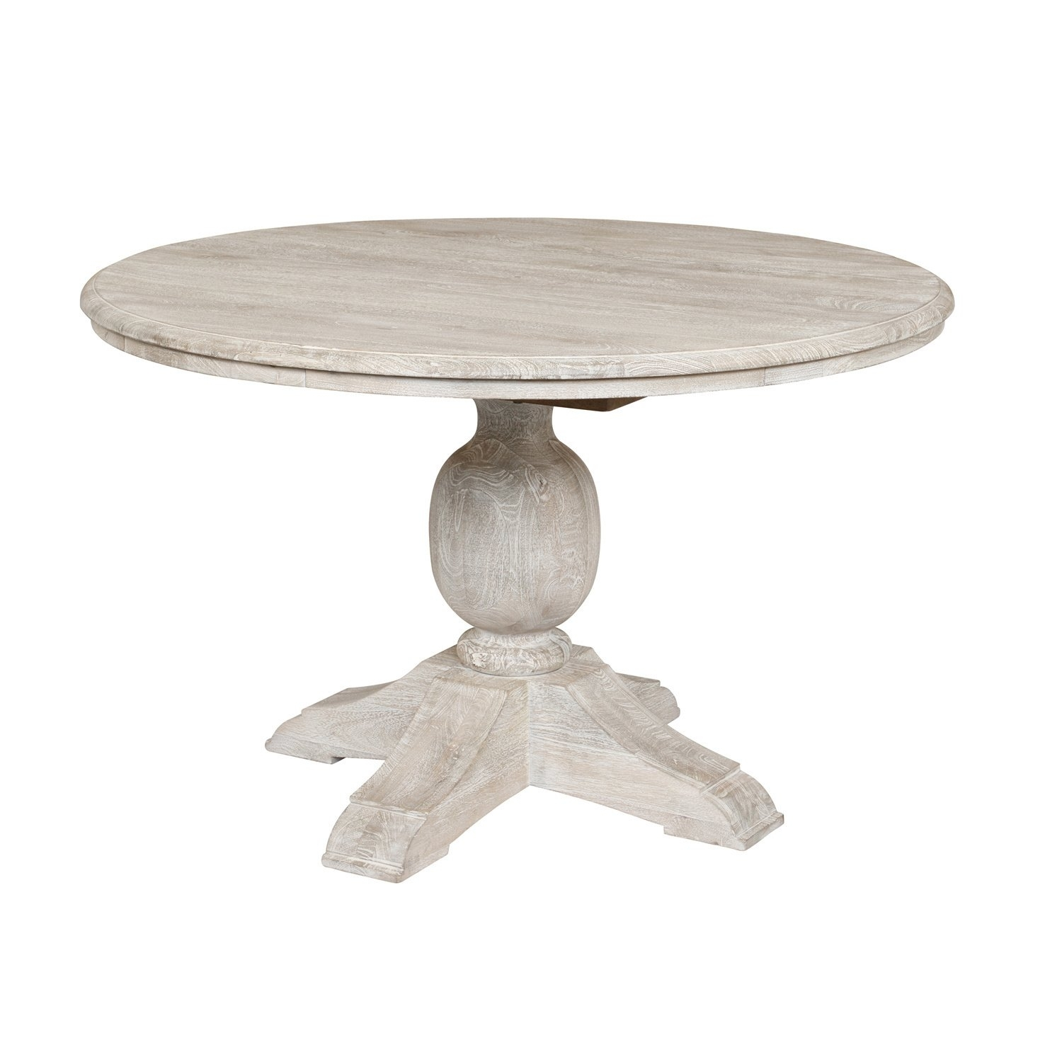 Shop Valencia Wood Antique White 48 Inch Dining Tablekosas Home With Regard To 2018 Valencia 60 Inch Round Dining Tables (Image 13 of 20)