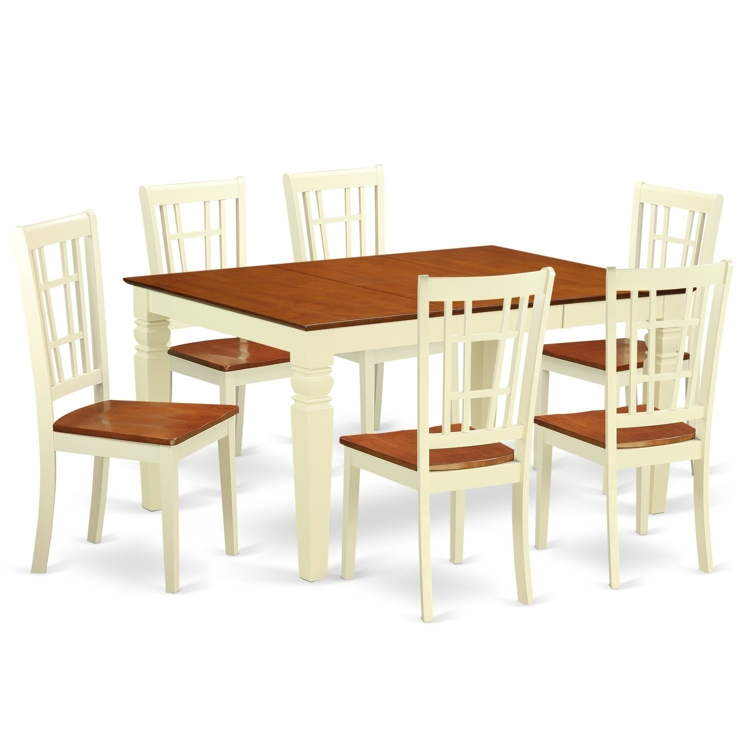 Shop Weni7 Bmk 7 Pc Kitchen Table Set With A Dining Table And 6 Within Current Gavin 6 Piece Dining Sets With Clint Side Chairs (Image 18 of 20)