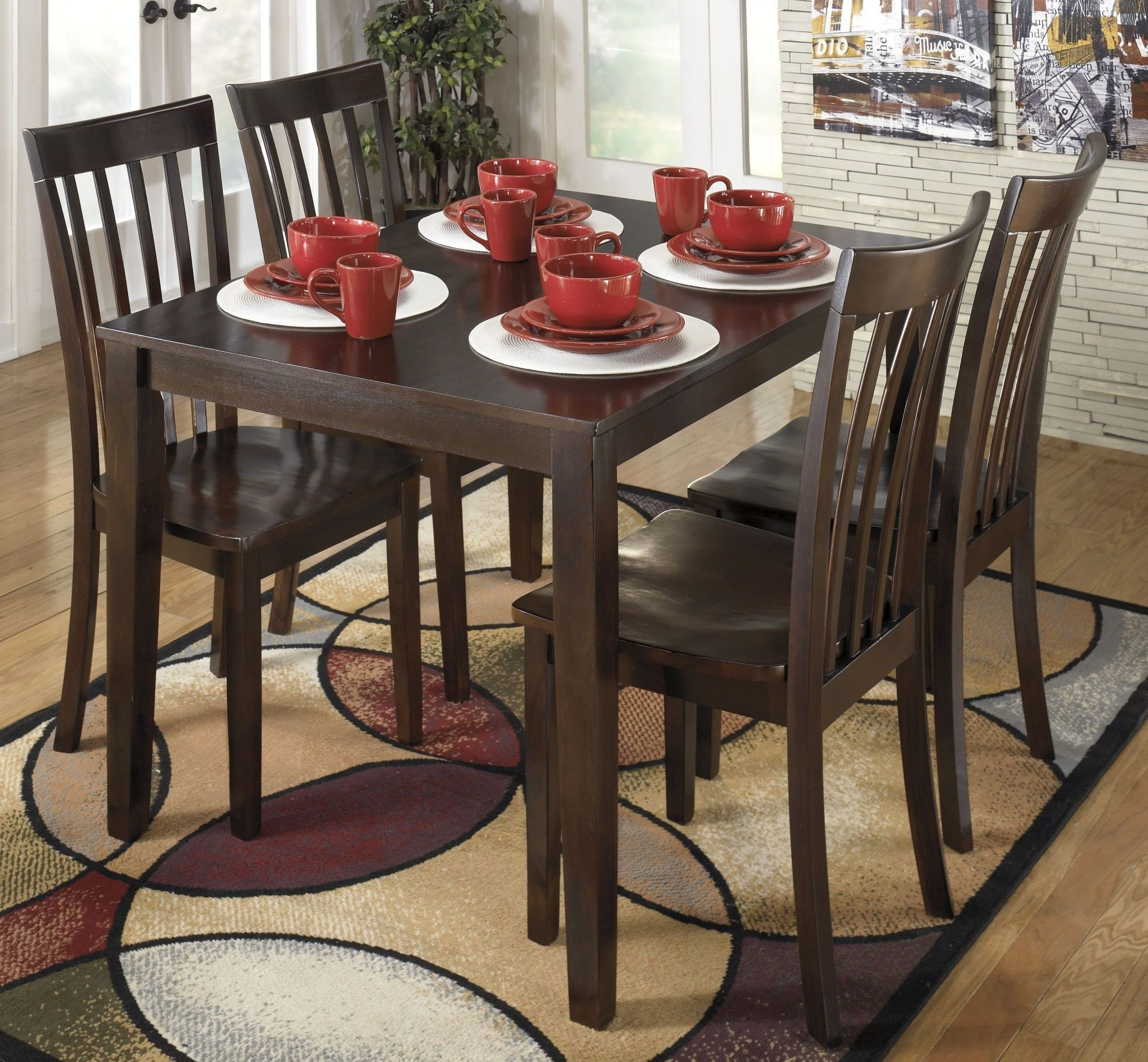 Signature Designashley Hyland 5 Piece Casual Dining Set – Hyland Inside 2018 Hyland 5 Piece Counter Sets With Bench (View 10 of 20)