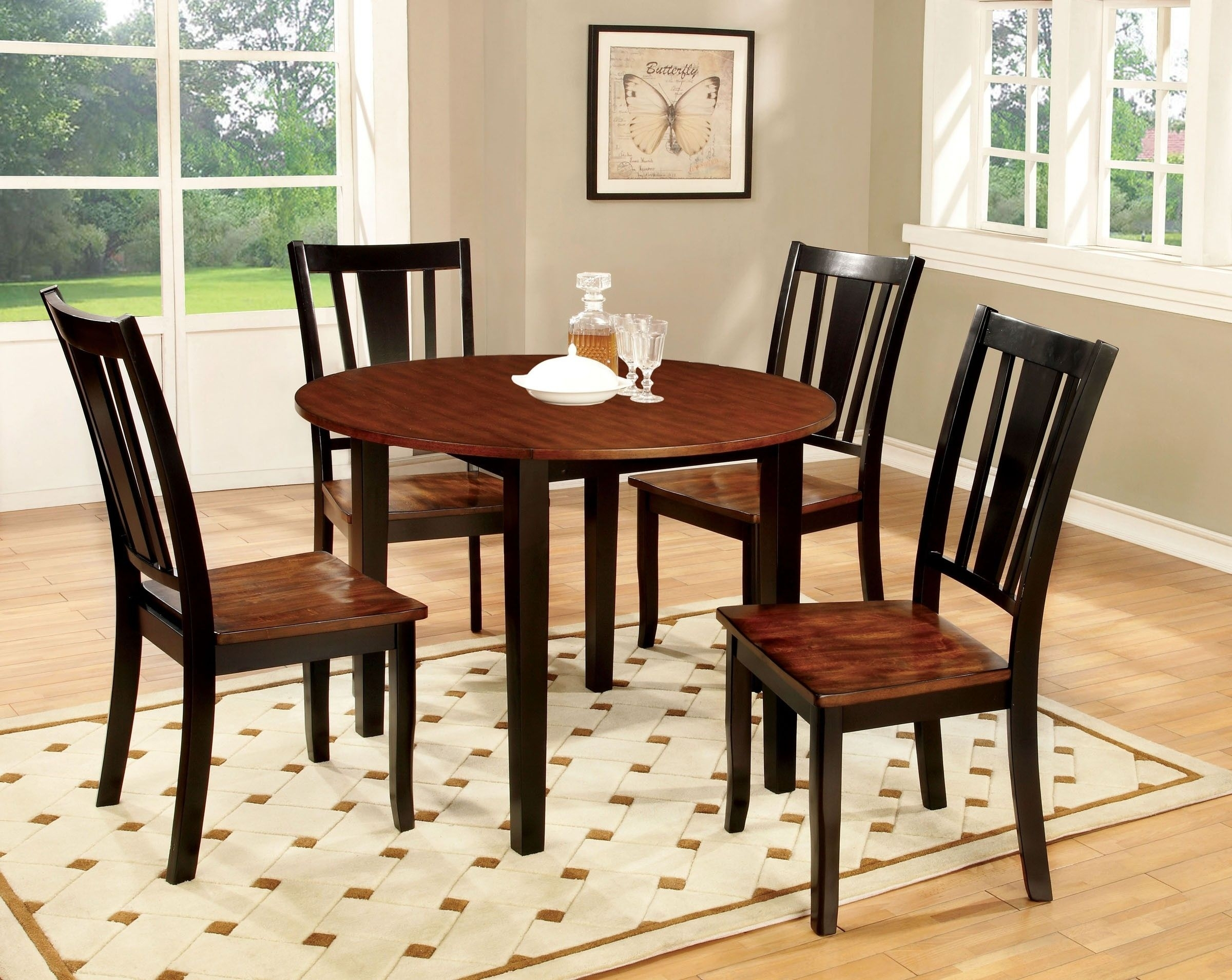 Simple Black And Cherry Dining Table | Elegant Black And Cherry Intended For Newest Caden 6 Piece Rectangle Dining Sets (Image 19 of 20)