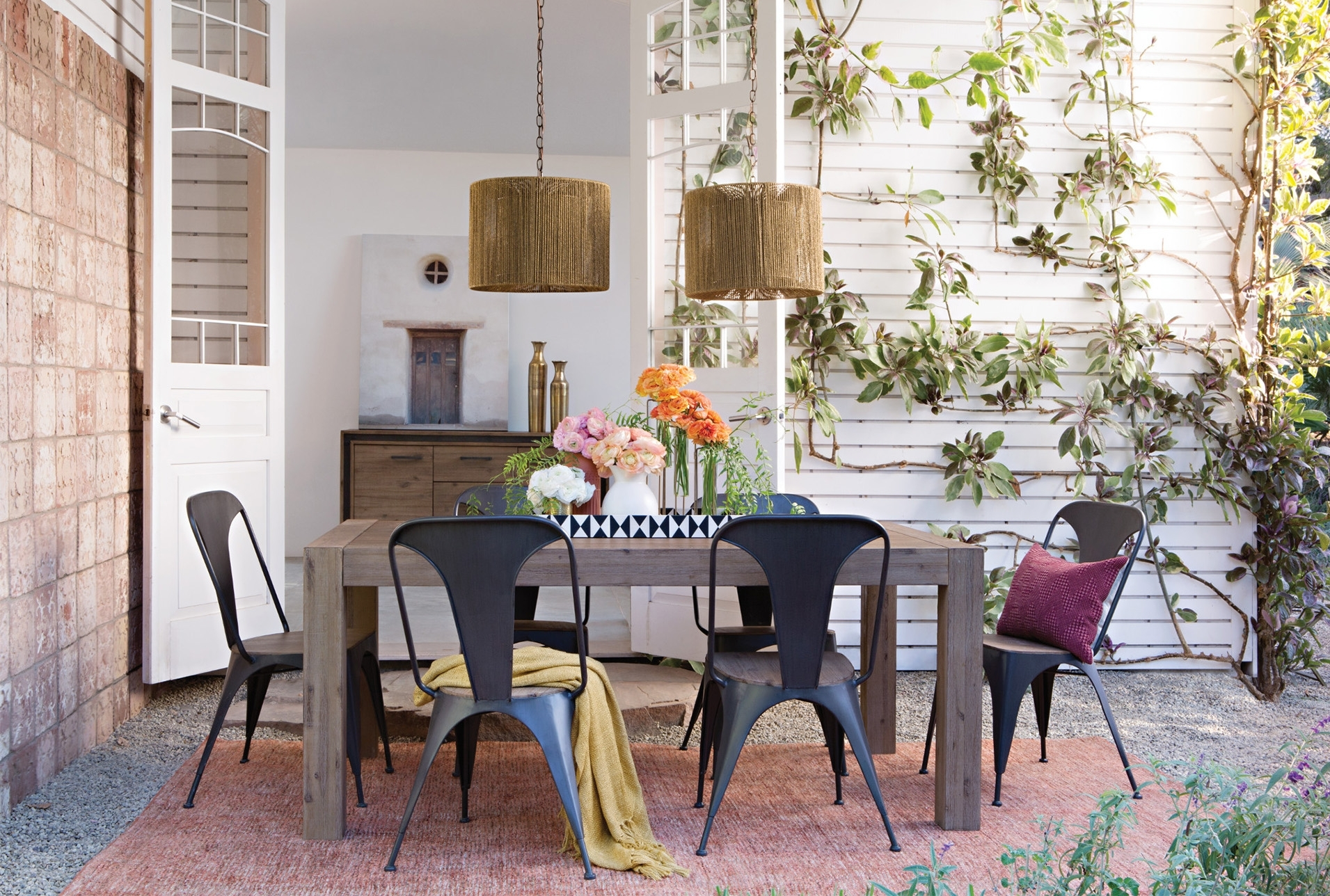 Simple Summer Dining Room Within Best And Newest Amos 7 Piece Extension Dining Sets (View 11 of 20)