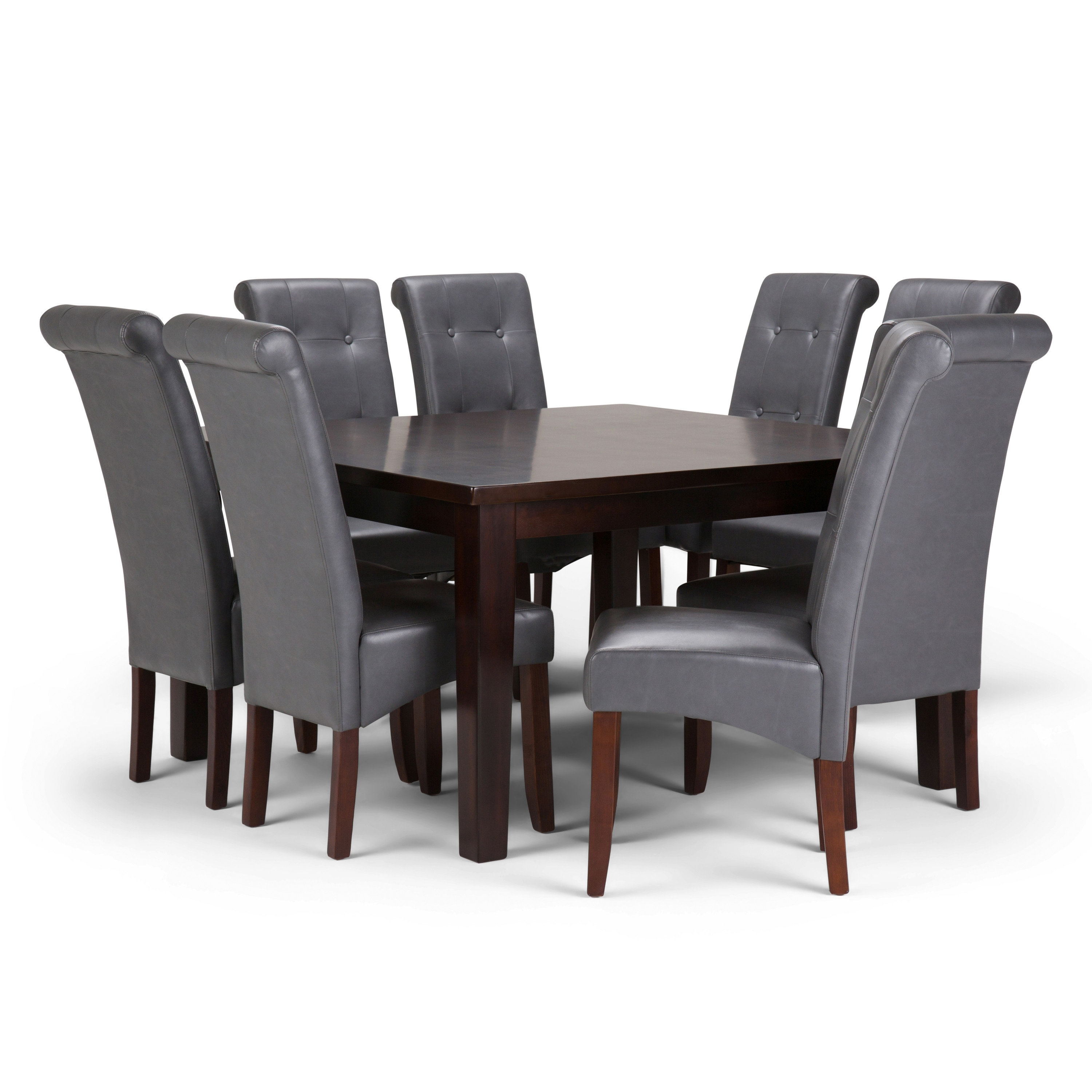 Simpli Home Cosmopolitan 9 Piece Dining Set | Wayfair Inside 2017 Walden 7 Piece Extension Dining Sets (Image 10 of 20)