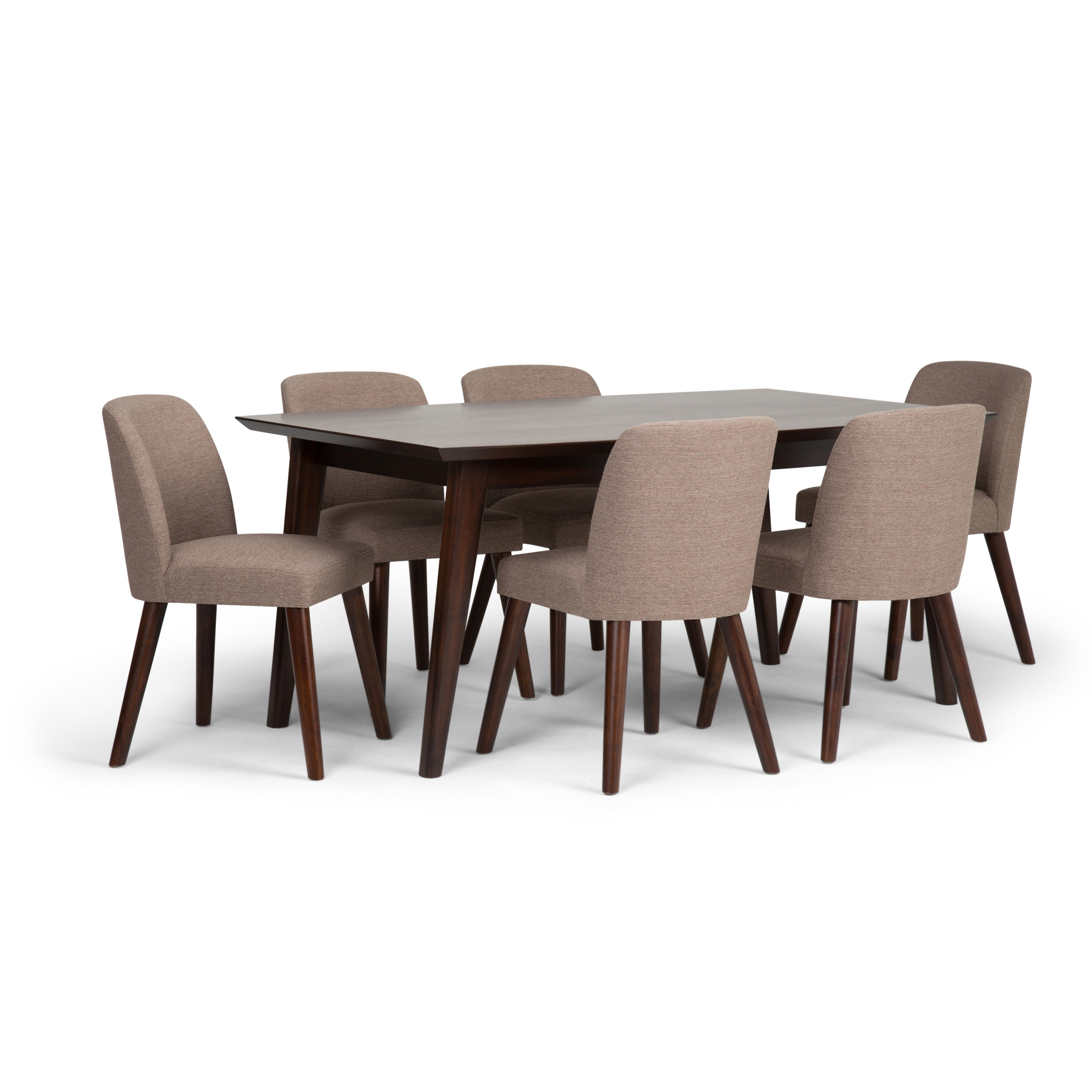 Simpli Home Emery 7 Piece Solid Wood Dining Set | Wayfair Regarding Most Recent Walden 7 Piece Extension Dining Sets (Image 12 of 20)