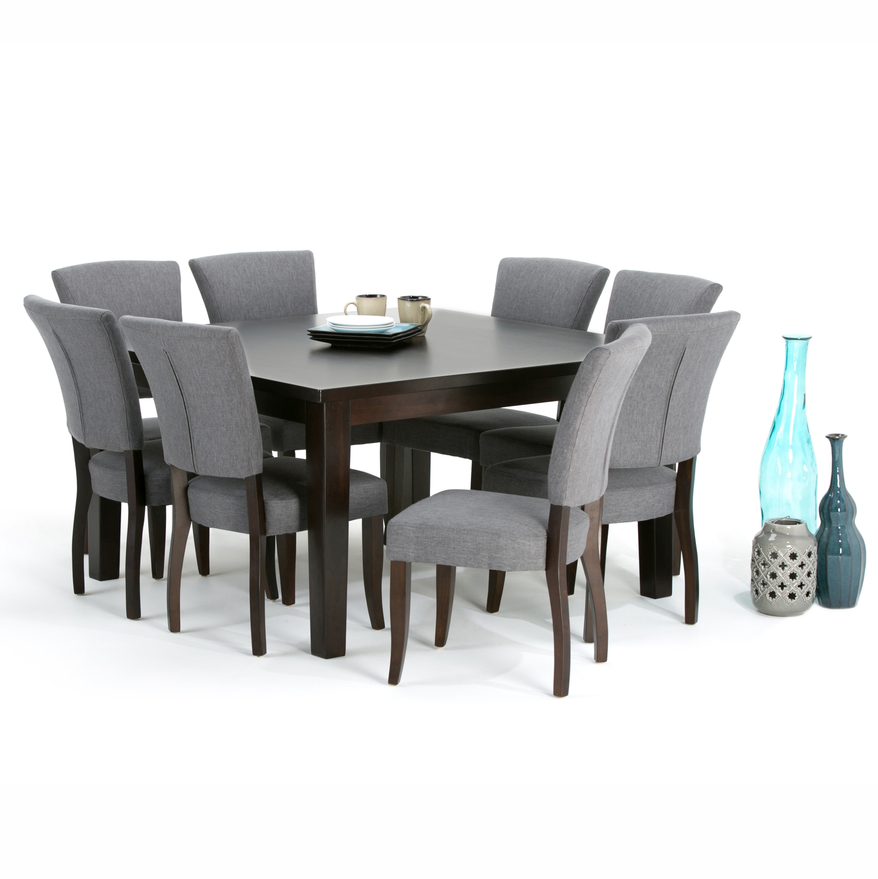Simpli Home Joseph 9 Piece Dining Set | Wayfair Throughout Most Recent Walden 9 Piece Extension Dining Sets (Image 12 of 20)