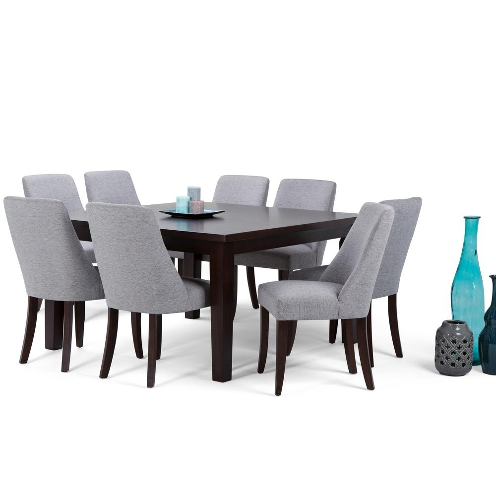 Simpli Home Walden 9 Piece Java Brown Dining Set Axcds9Wa G – The Regarding Most Popular Walden 9 Piece Extension Dining Sets (Image 15 of 20)