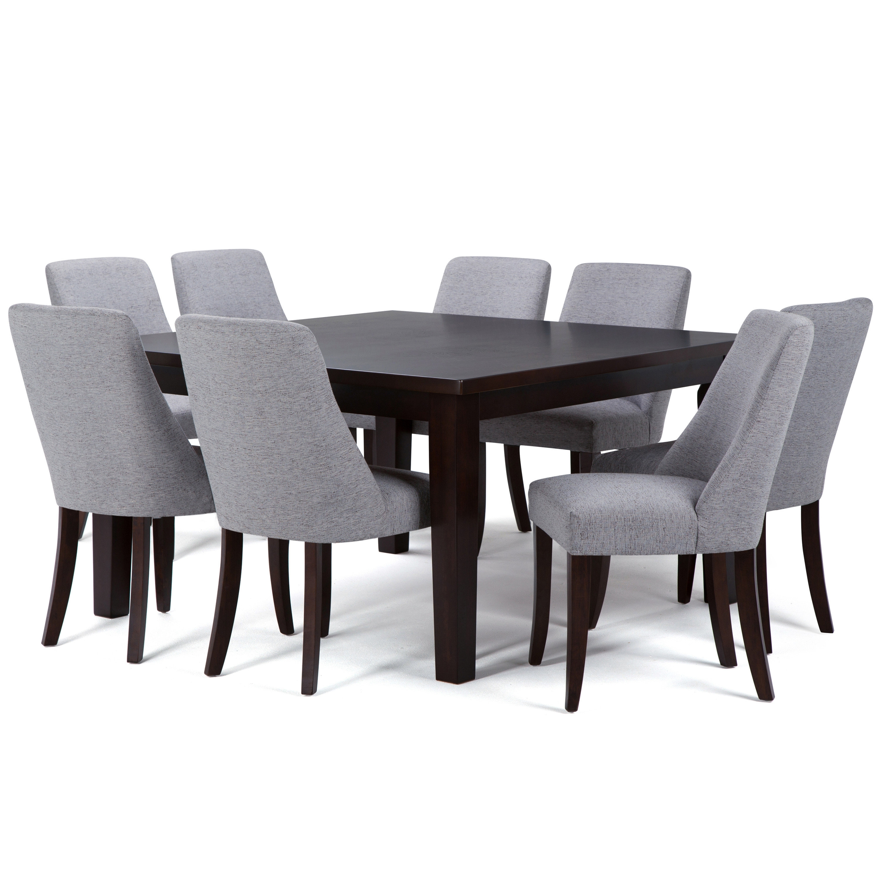 Simpli Home Walden 9 Piece Solid Wood Dining Set | Wayfair With Most Up To Date Walden Extension Dining Tables (Image 13 of 20)