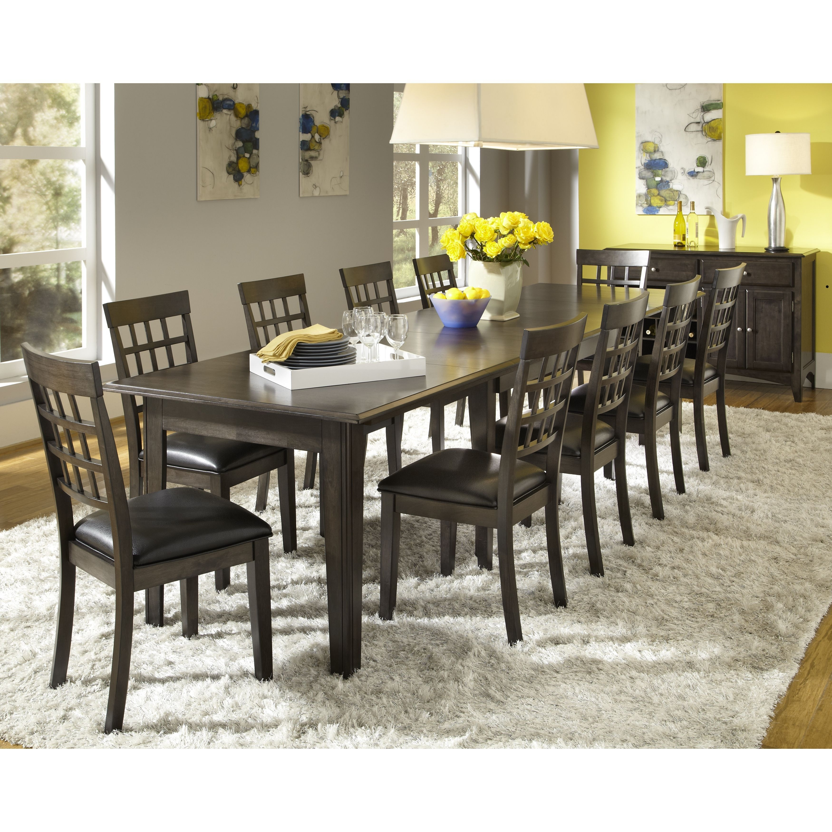 Simply Solid Corina Solid Wood 10 Piece Dining Collection (Dining Intended For Most Recent Norwood Rectangle Extension Dining Tables (Image 15 of 20)