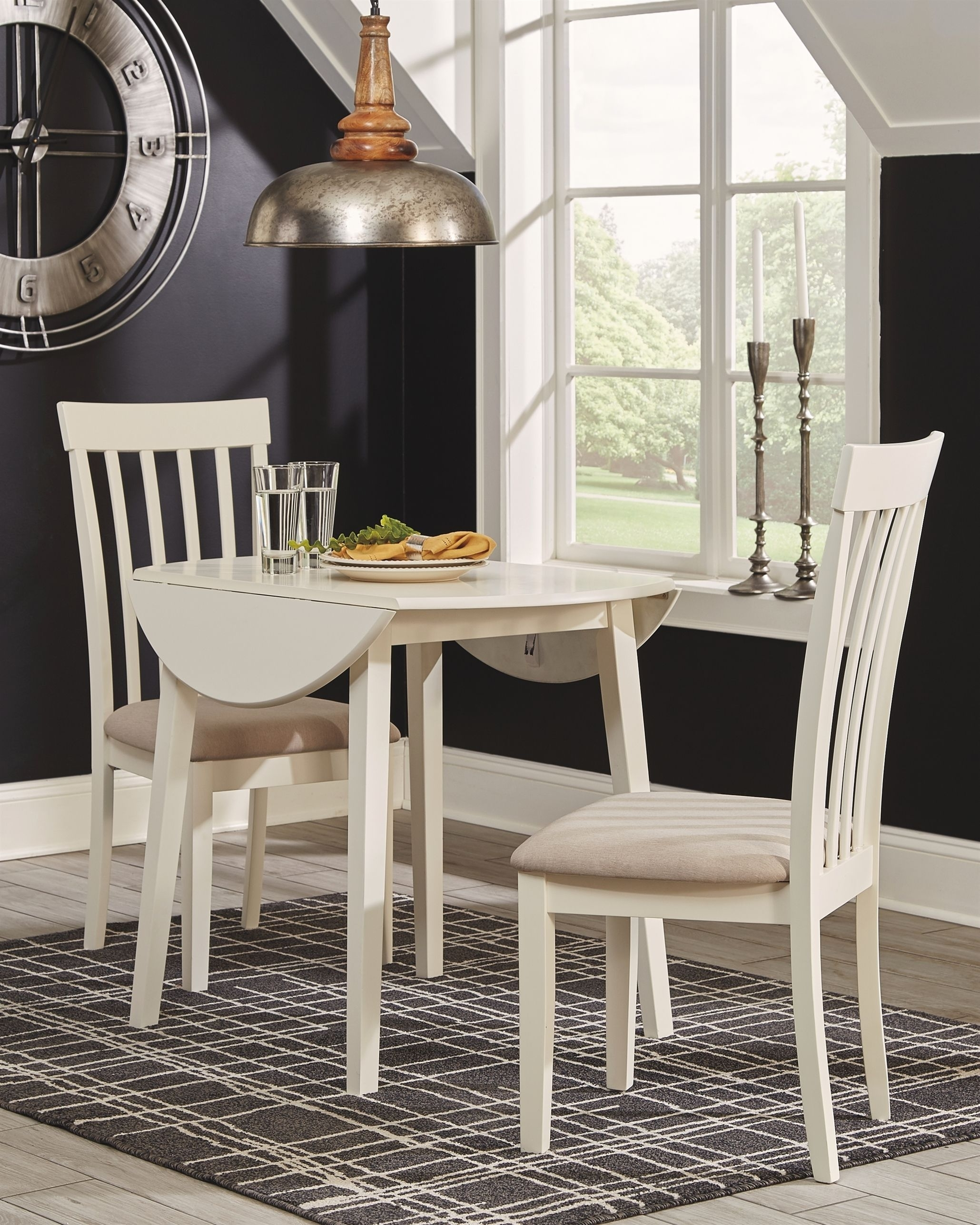 Slannery Dining Room Chair (Set Of 2), White #diningroomchairs Pertaining To 2018 Market 7 Piece Dining Sets With Host And Side Chairs (View 8 of 20)