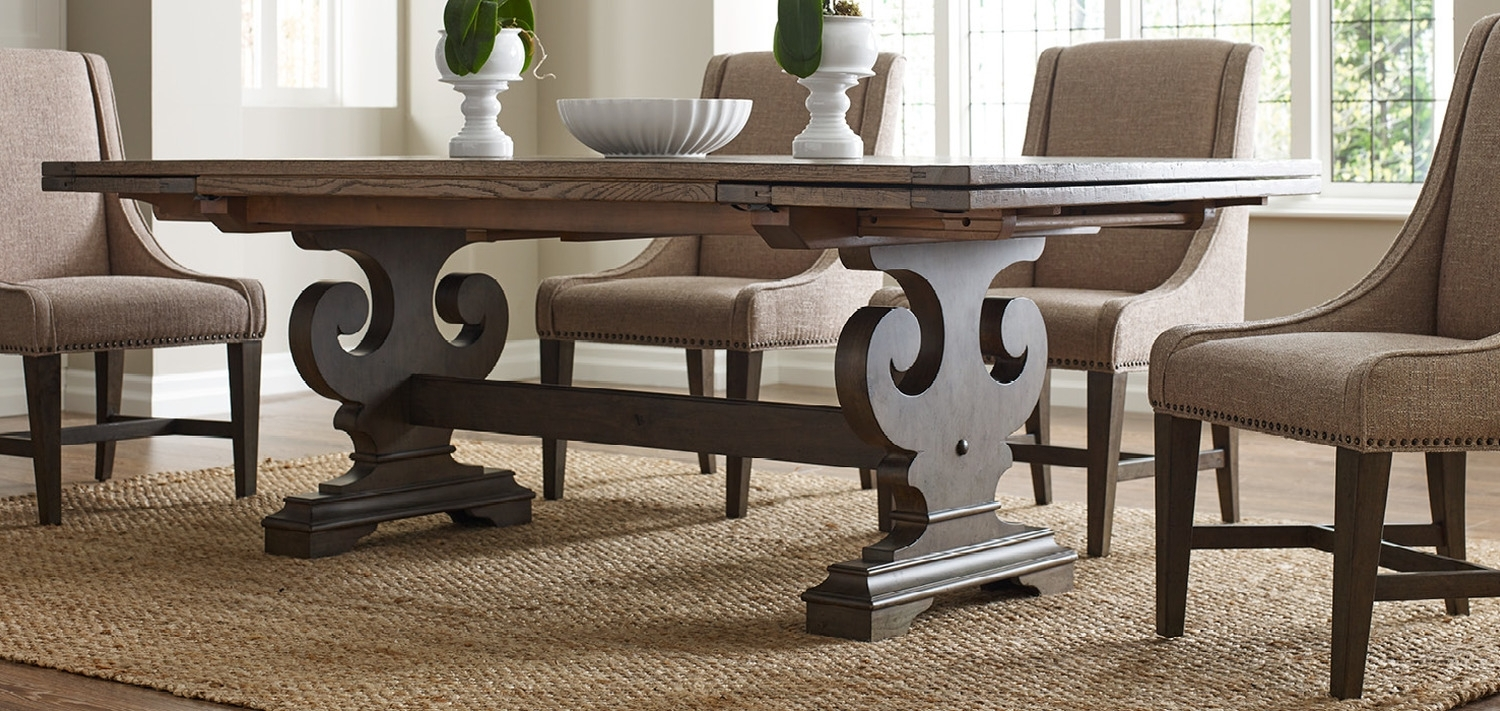 Solid Wood Furniture And Custom Upholsterykincaid Furniture, Nc In Newest Craftsman 5 Piece Round Dining Sets With Uph Side Chairs (Image 16 of 20)