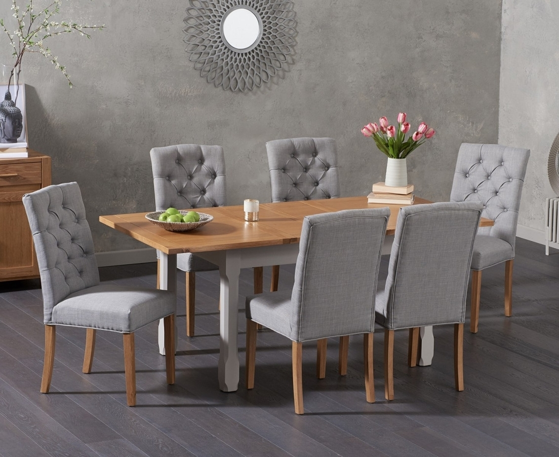 Somerset 130Cm Oak And Grey Extending Dining Table With Candice Grey Pertaining To Most Current Candice Ii 7 Piece Extension Rectangle Dining Sets (Image 18 of 20)