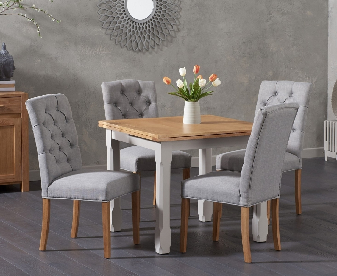 Somerset 90Cm Flip Top Oak And Grey Dining Table With Candice Grey Regarding 2018 Candice Ii 6 Piece Extension Rectangle Dining Sets (Image 16 of 20)