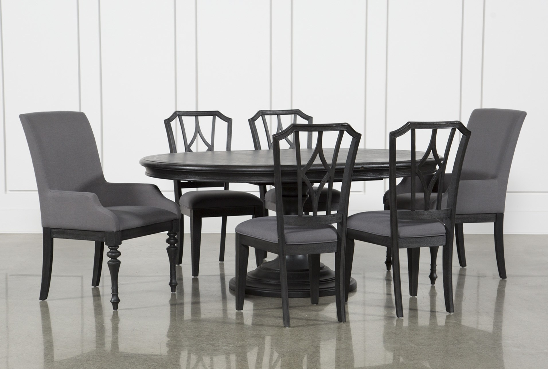 Sophisticated Caira Black Piece Set Chairs Diamond Back Chairs Has For Best And Newest Partridge 7 Piece Dining Sets (View 19 of 20)