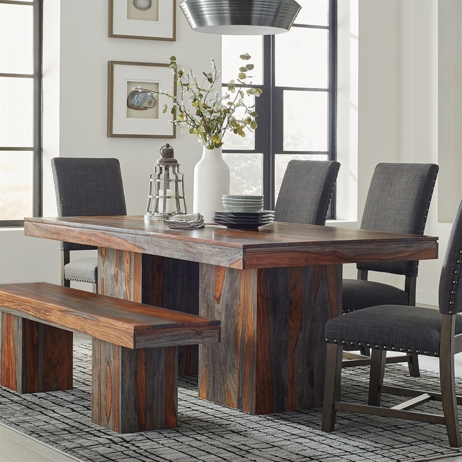 Splendid Design Ideas Grey Wood Dining Set Jaxon 6 Piece Rectangle Pertaining To 2017 Jaxon 6 Piece Rectangle Dining Sets With Bench & Wood Chairs (View 15 of 20)