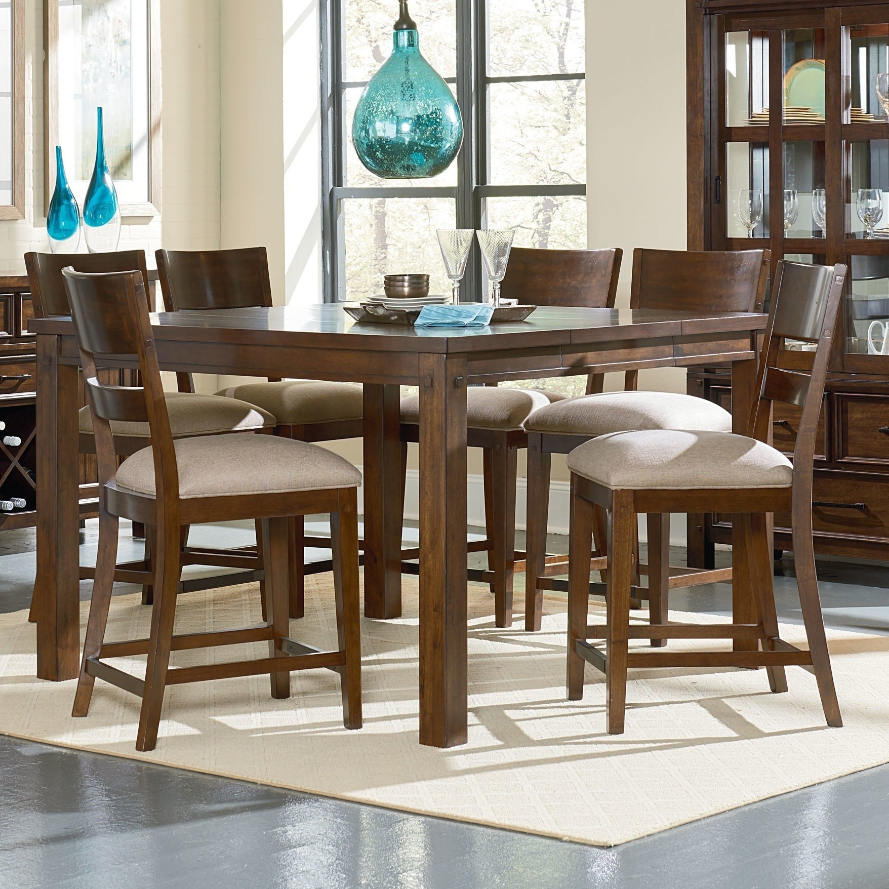 Square Dining Table For 6 – Visual Hunt Throughout Current Parquet 7 Piece Dining Sets (View 20 of 20)