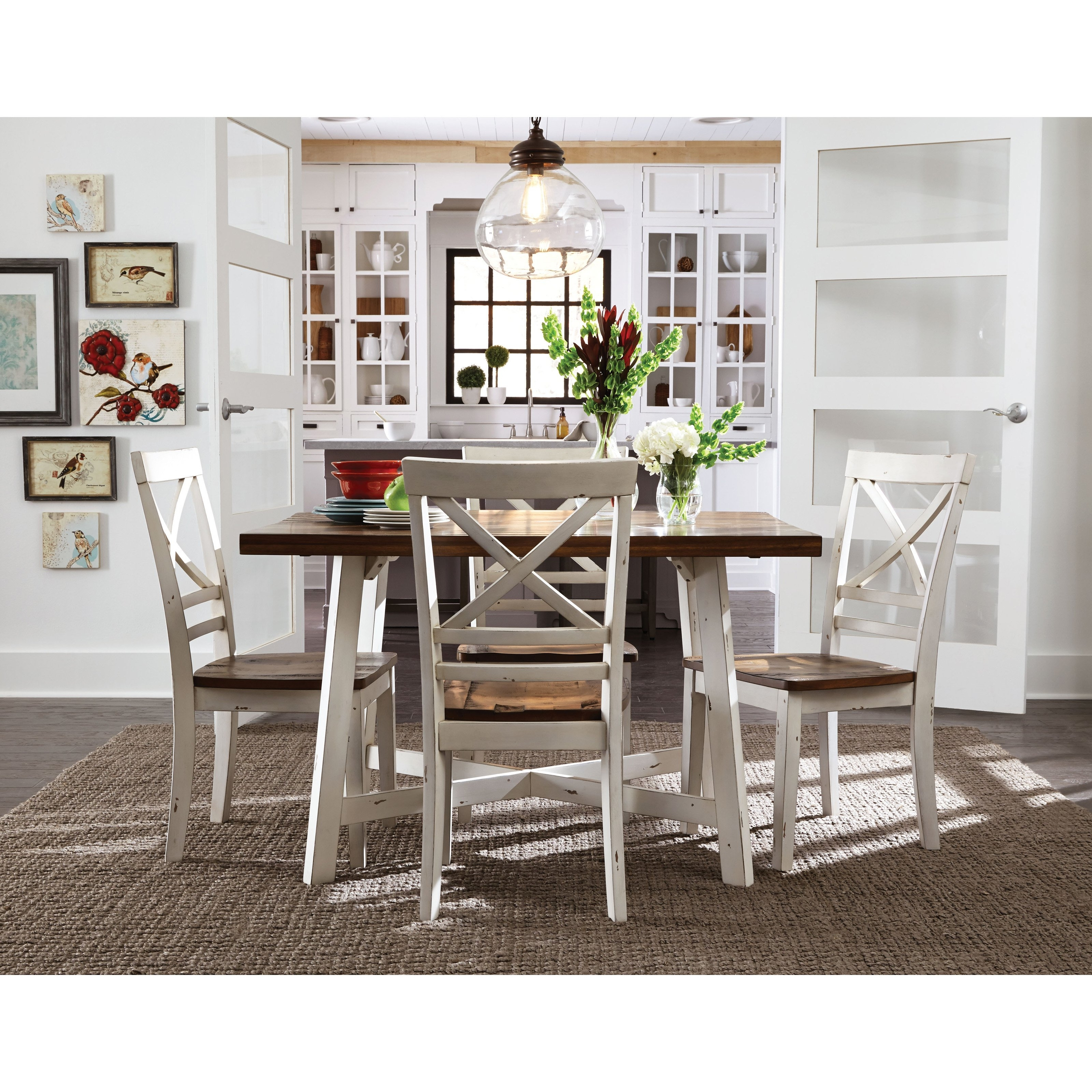 Standard Furniture Amelia 5 Piece Dining Table Set | Hayneedle In Most Popular Market 5 Piece Counter Sets (Image 19 of 20)