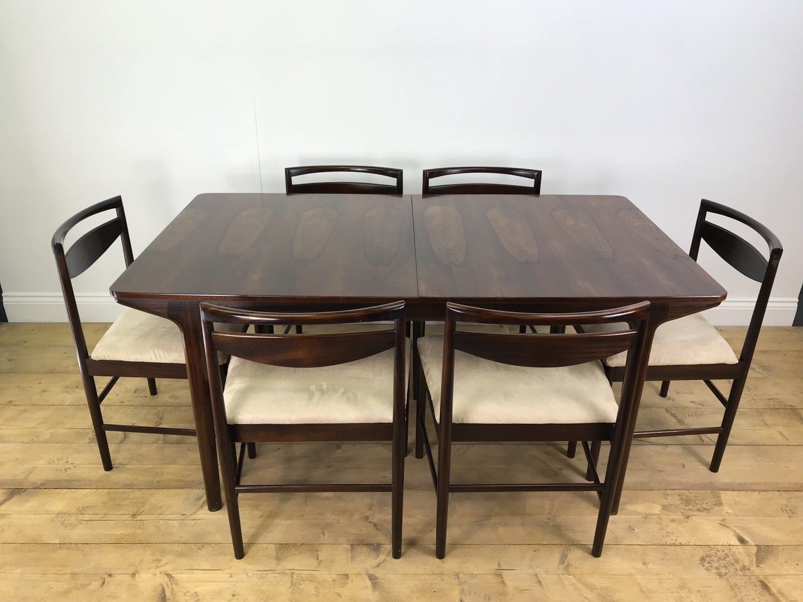 Stunning Mcintosh Rosewood Dining Table 6 Chairs Vintage Retro Teak Extending Intended For Current Outdoor Brasilia Teak High Dining Tables (View 18 of 20)
