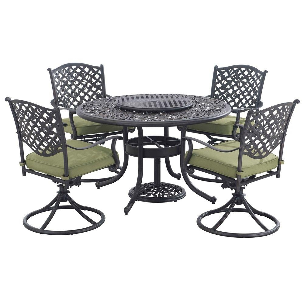 Sunjoy Vining 7 Piece Patio Dining Set With Green Cushions 110201030 With Regard To Most Popular Cora 7 Piece Dining Sets (Image 19 of 20)
