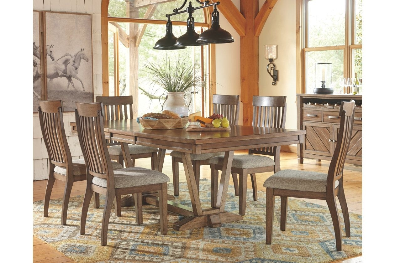 "Table Only Is 90""l With Leaf. Colestad 7 Piece Dining Room 