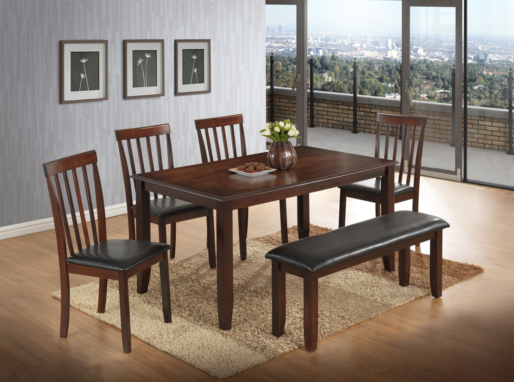 Tables, Chairs, & Servers – Hello Furniture Inside Newest Jaxon Grey 5 Piece Round Extension Dining Sets With Upholstered Chairs (View 15 of 20)