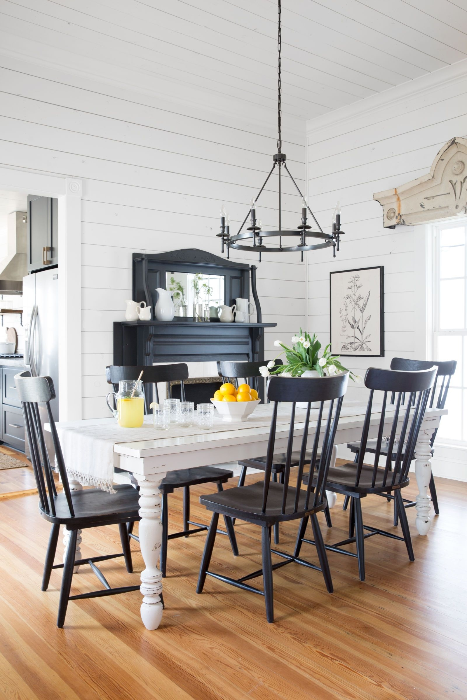 Take A Tour Of Chip And Joanna Gaines' Magnolia House B&b | Country Intended For 2018 Magnolia Home Breakfast Round Black Dining Tables (View 11 of 20)