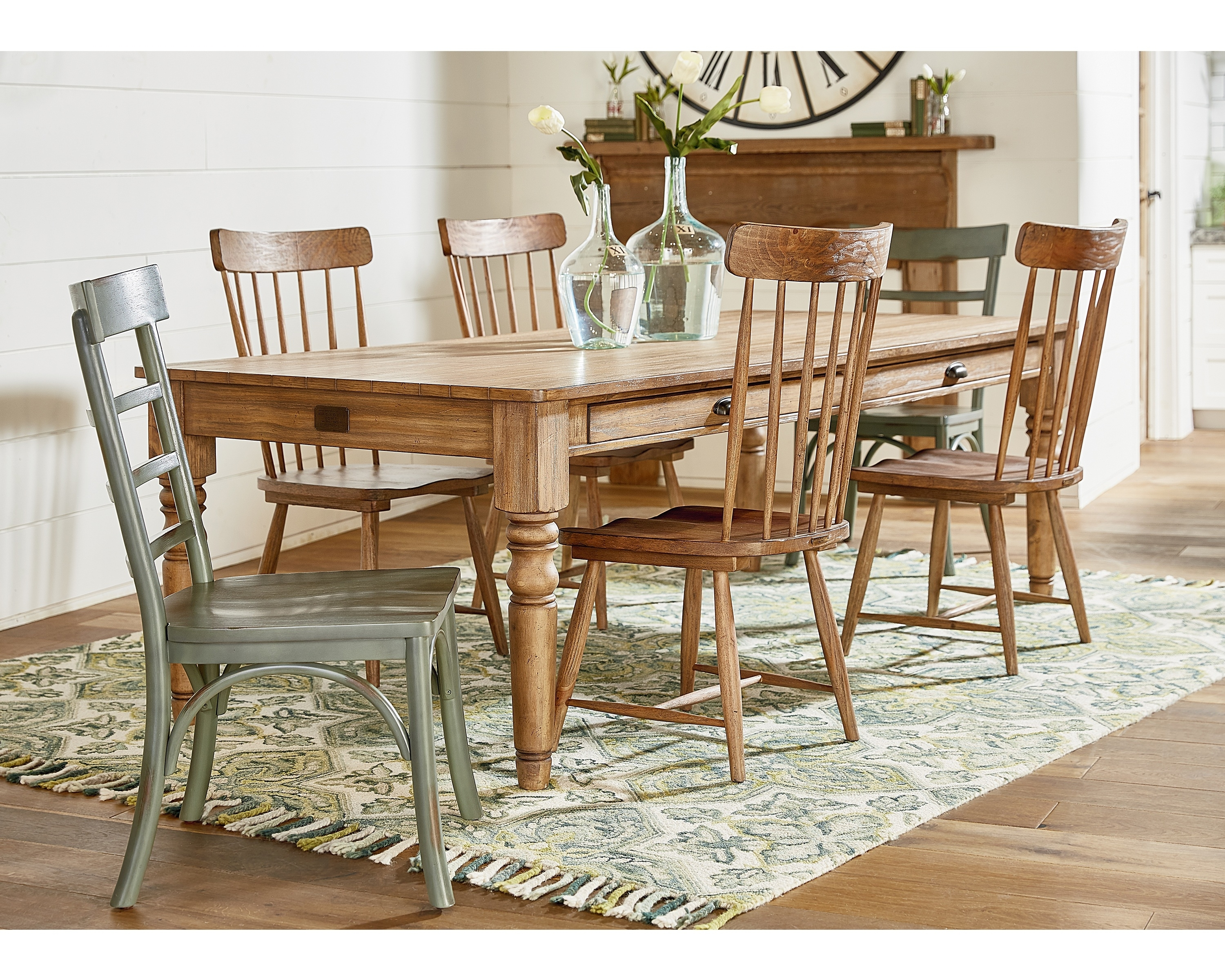 Taper Turned Dining Table – Magnolia Home Intended For Current Magnolia Home Bench Keeping 96 Inch Dining Tables (Image 18 of 20)