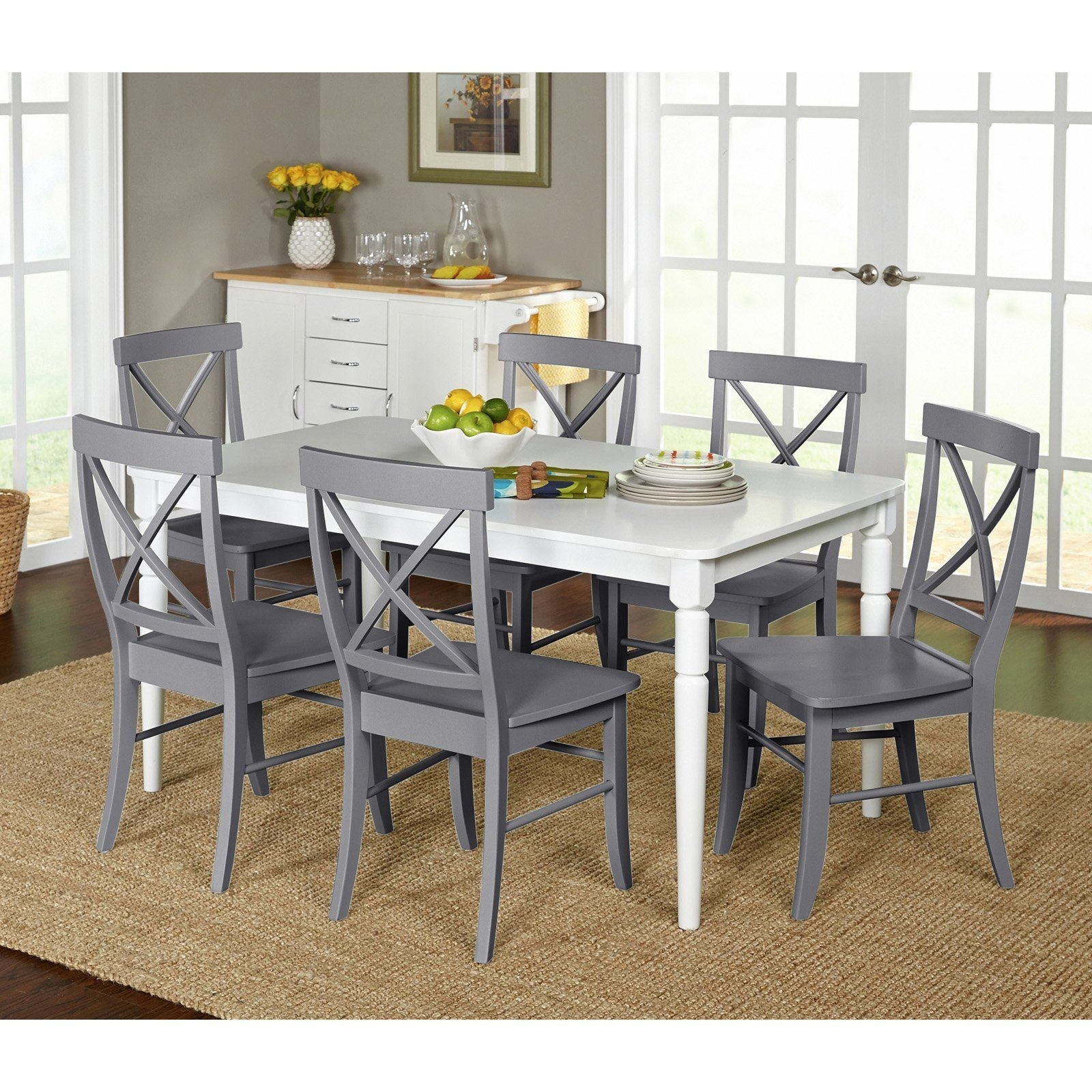 Target Marketing Systems Albury 7 Piece Dining Table Set – 75127Gry With Regard To Most Recent Market 7 Piece Dining Sets With Side Chairs (Photo 1 of 20)