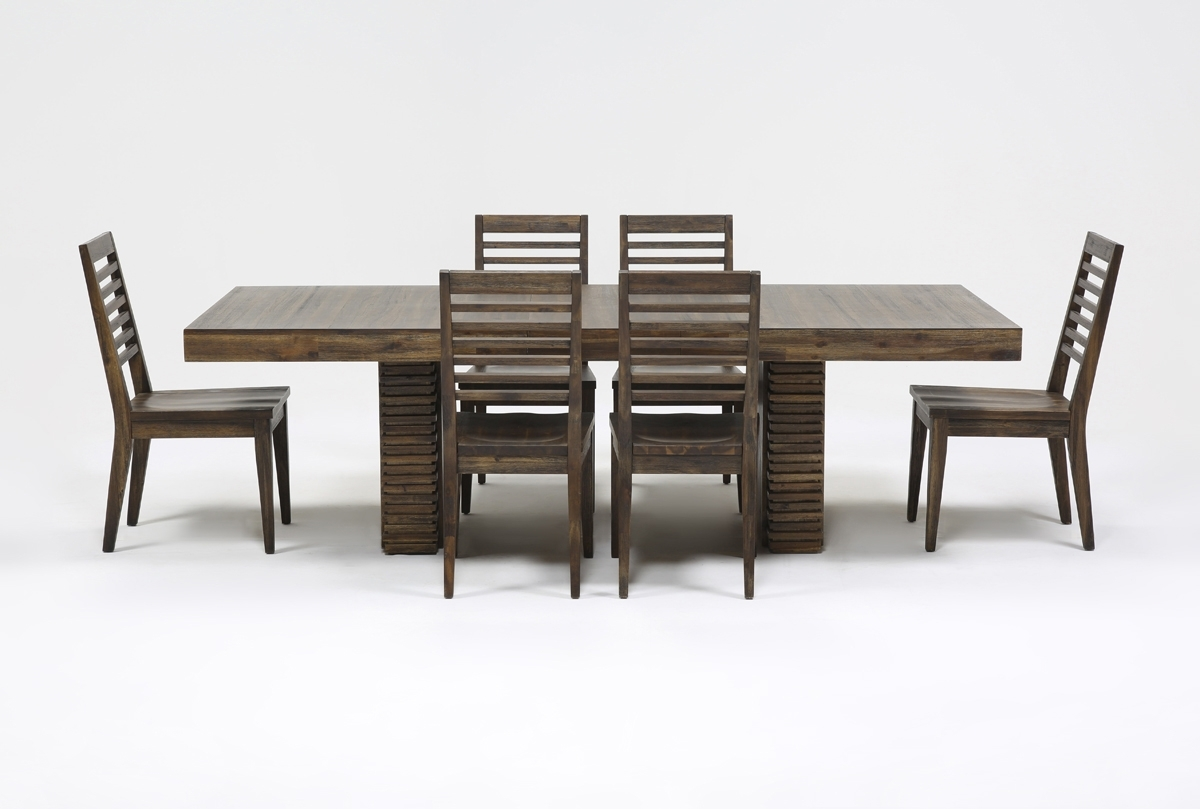 Teagan 7 Piece Extension Dining Set | Living Spaces Throughout Most Current Teagan Extension Dining Tables (Image 17 of 20)