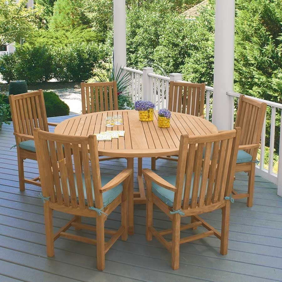 Teak Dining Tables – Chelmsford 59 In (View 8 of 20)