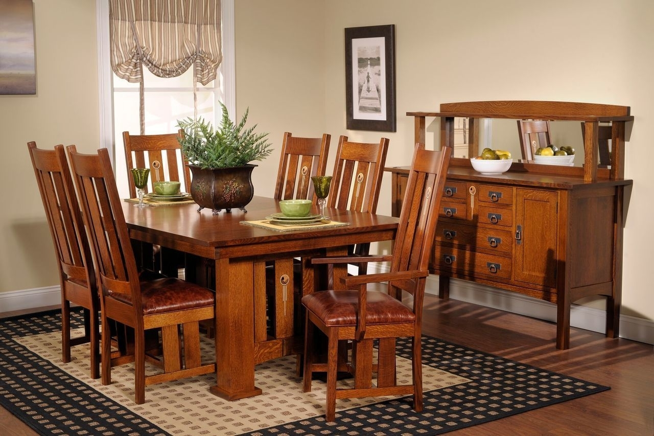 The Craftsman Dining Collection | For The Home | Pinterest | Craftsman In 2018 Craftsman 7 Piece Rectangular Extension Dining Sets With Arm & Uph Side Chairs (Photo 15 of 20)
