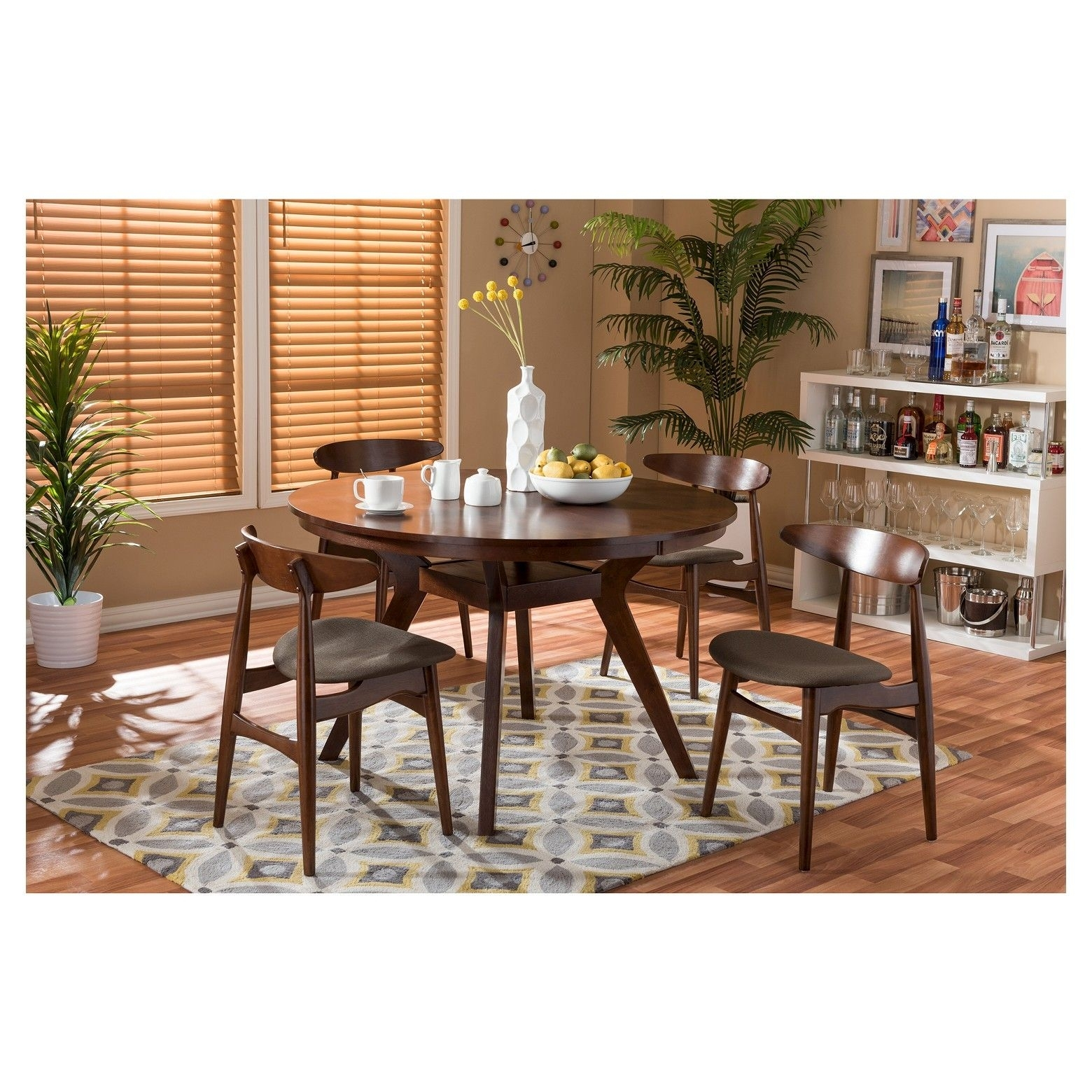 The Flamingo 5 Piece Dining Set Includes A 4 Ft (Image 20 of 20)