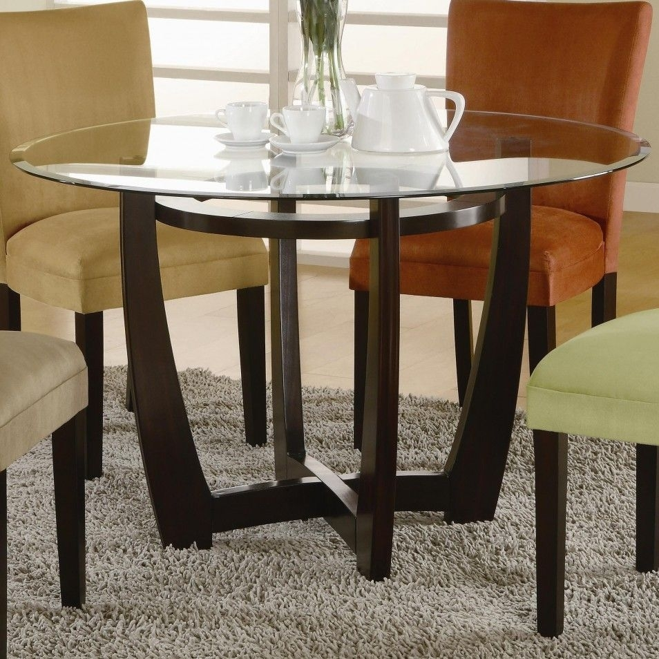 The Highest Quality And Marvelous Glass Dining Table Base Ideas In Throughout Latest Ina Matte Black 60 Inch Counter Tables With Frosted Glass (Image 19 of 20)