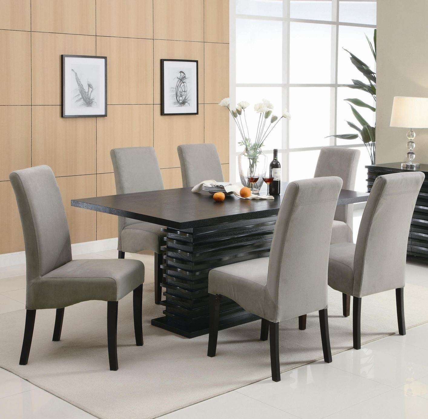 The Lazy Man's Guide To Dining Room Table And Chair Sets | Dining Throughout 2017 Caira Black 7 Piece Dining Sets With Arm Chairs & Diamond Back Chairs (View 4 of 20)