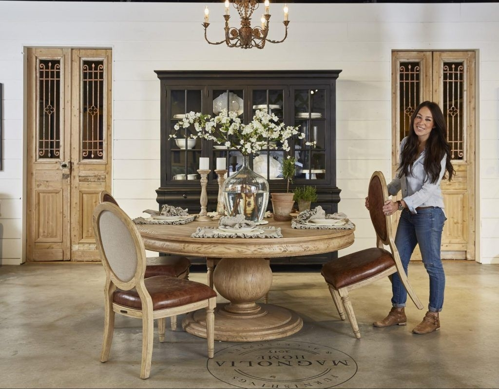 The Making Of A Furniture Showroom | Fixer Upper | Pinterest Regarding Best And Newest Market 6 Piece Dining Sets With Host And Side Chairs (View 19 of 20)