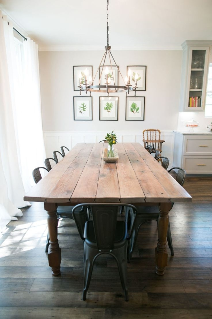 This Is What It's Really Like To Be On Hgtv's 'fixer Upper' | Dining Throughout Newest Magnolia Home White Keeping 96 Inch Dining Tables (Image 20 of 20)