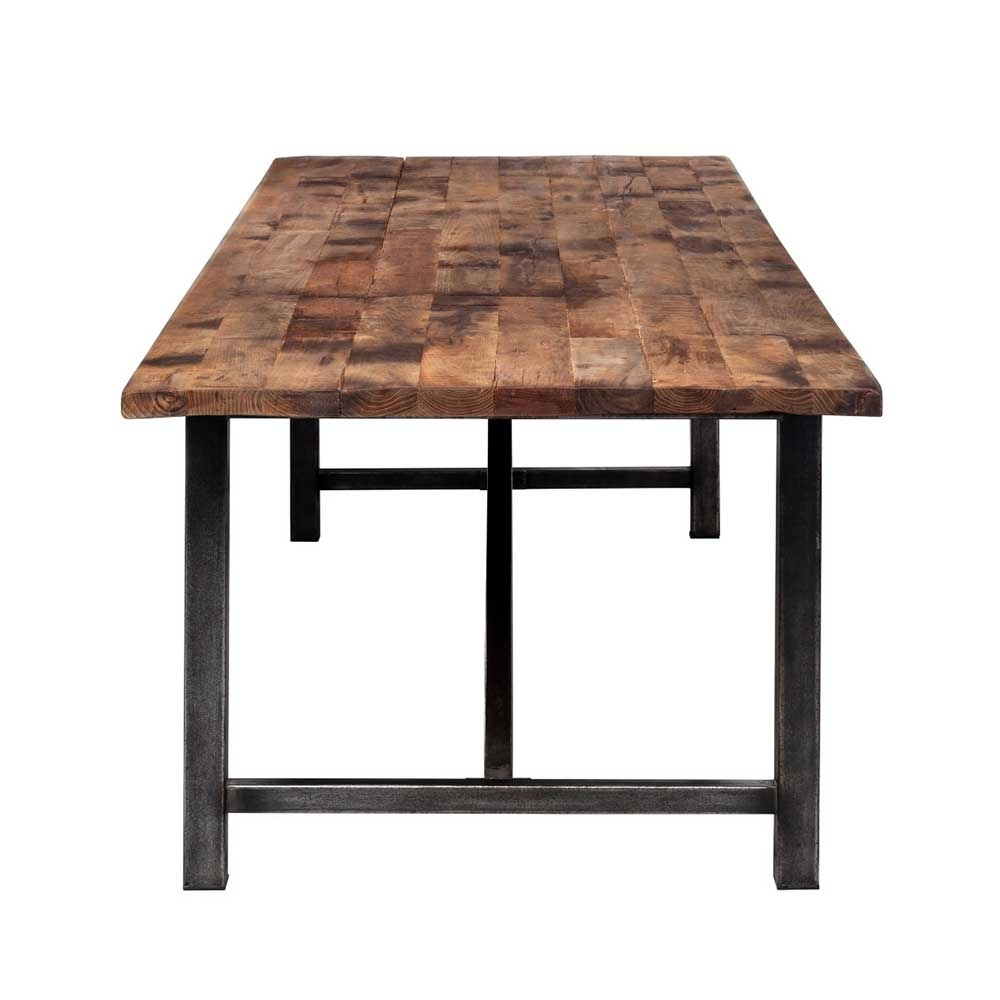 Timothy Oulton Axel Reclaimed Wood Parquet Dining Table | Tables For Most Popular Parquet Dining Tables (Image 20 of 20)