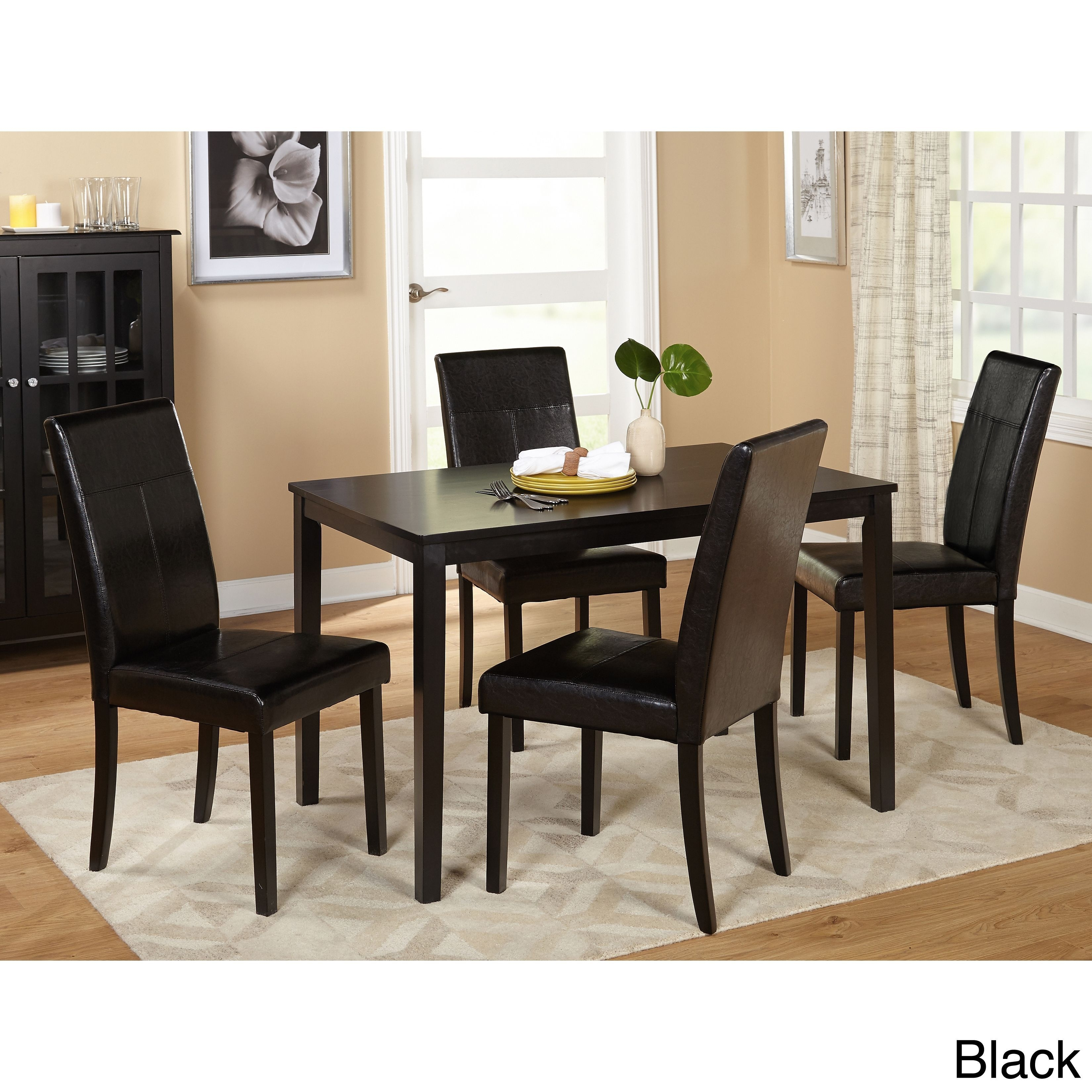 Toby 7 Piece Dining Setorren Ellis Reviews Intended For Newest Combs 5 Piece 48 Inch Extension Dining Sets With Mindy Side Chairs (Image 18 of 20)