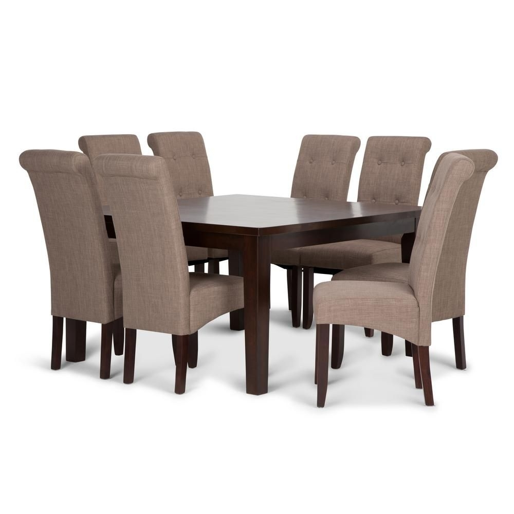 Toby 7 Piece Dining Setorren Ellis Reviews Within Most Current Lassen 7 Piece Extension Rectangle Dining Sets (Image 18 of 20)