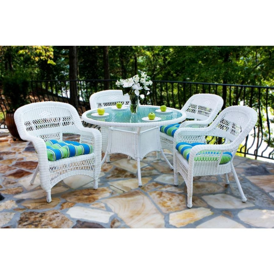 Tortuga Portside Patio Furniture Tortuga Outdoor Portside 5 Piece Pertaining To Newest Outdoor Tortuga Dining Tables (View 13 of 20)