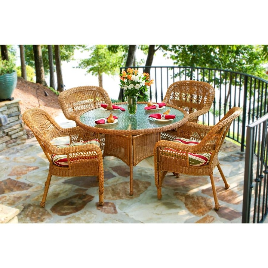 Tortuga Portside Patio Furniture Tortuga Outdoor Portside 5 Piece With Regard To Current Outdoor Tortuga Dining Tables (Photo 18 of 20)