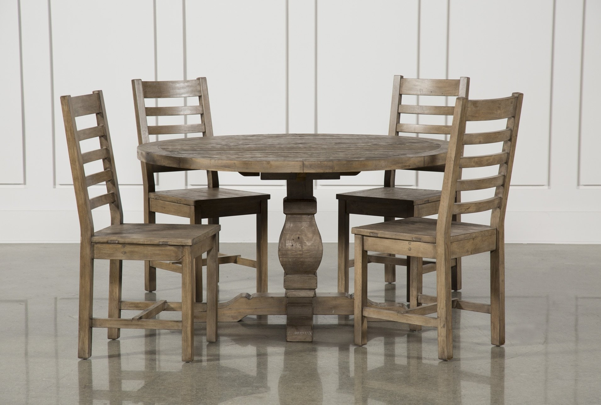 Tremendous Caden Piece Round Set Small Room Sets Living Spaces Within Most Recently Released Weaver Ii Dining Tables (Photo 12 of 20)