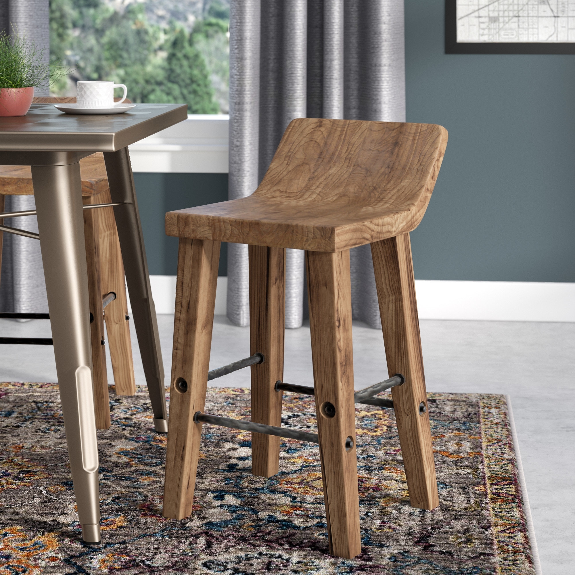 Trent Austin Design Feinberg Bar & Counter Stool & Reviews | Wayfair Regarding Most Recent Laurent 7 Piece Counter Sets With Wood Counterstools (Image 16 of 20)