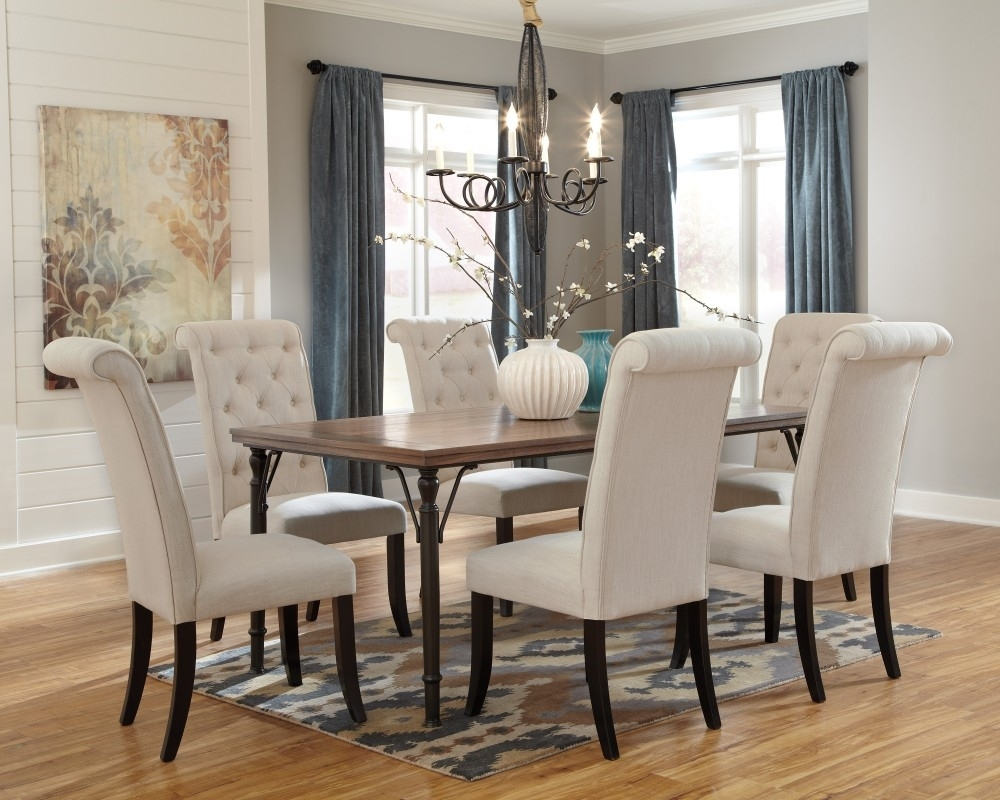 Tripton Rectangular Dining Room Table & 6 Uph Side Chairs | D530/01 With Newest Market 6 Piece Dining Sets With Side Chairs (Photo 14 of 20)