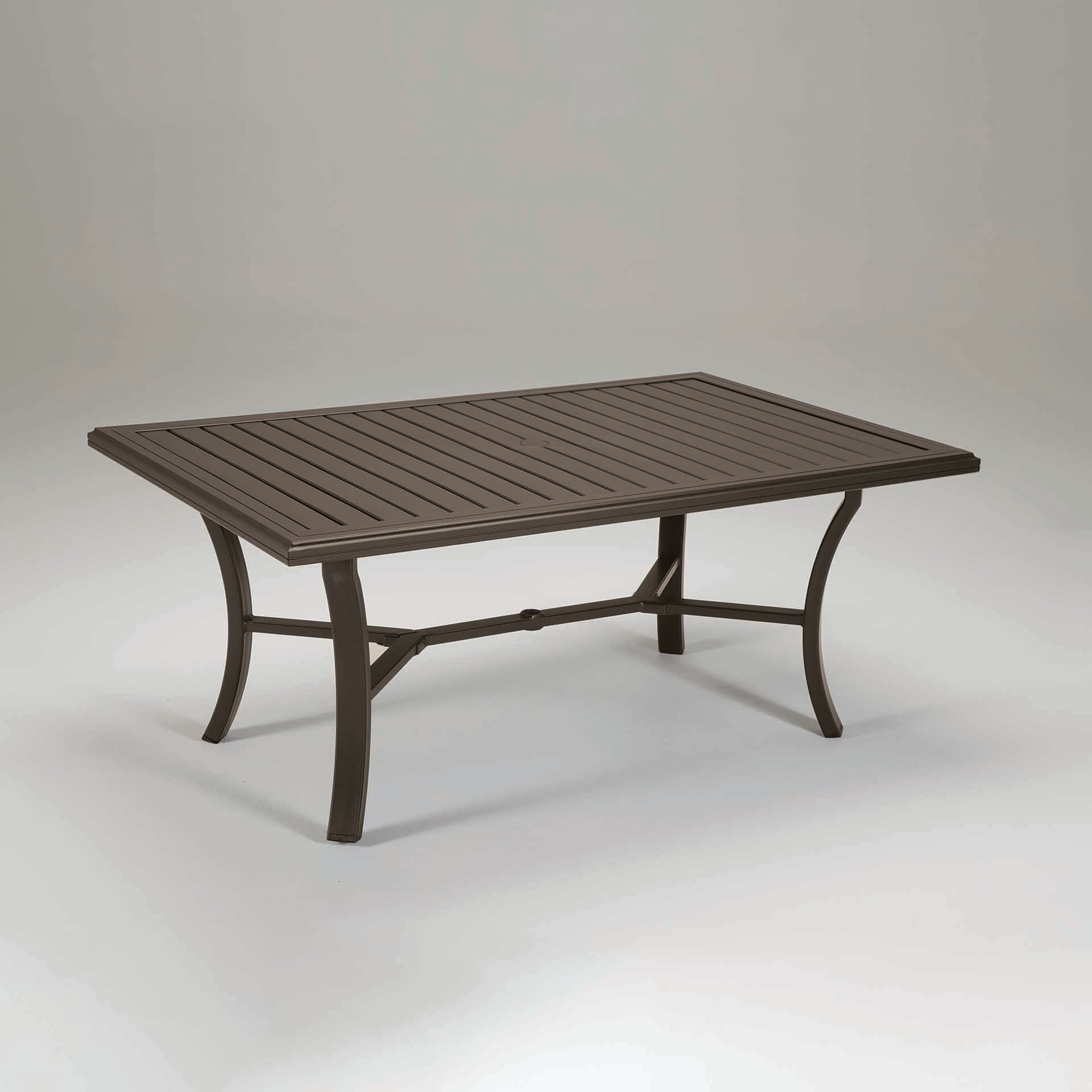 "Tropitone Banchetto 66X42"" Rectangular Dining Table – Leisure Living In Recent Laurent Rectangle Dining Tables (View 19 of 20)"