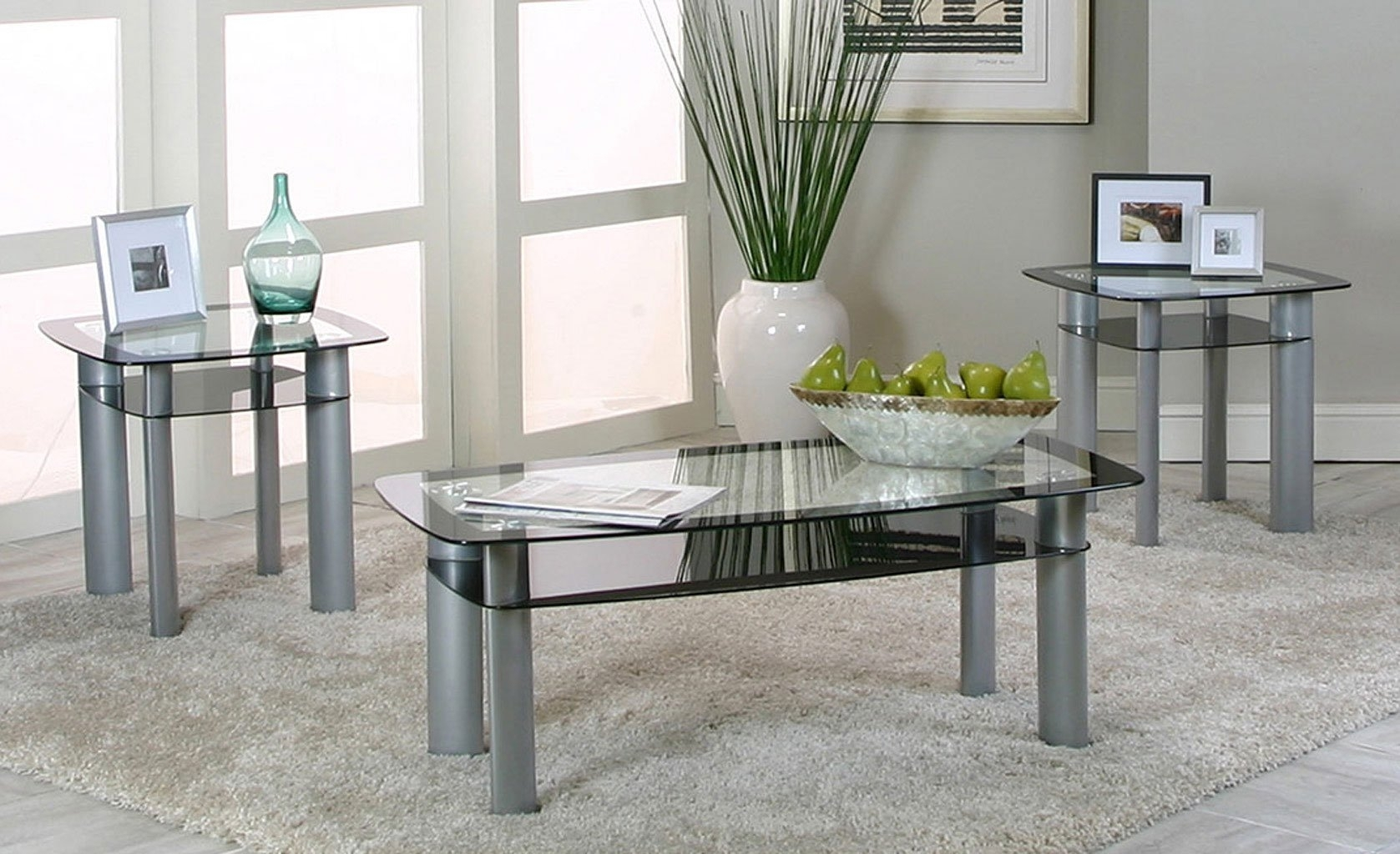 Valencia 3 Piece Occasional Table Set – Occasional And Accent With Most Recently Released Valencia 3 Piece Counter Sets With Bench (View 2 of 20)