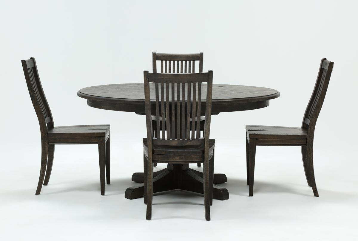 Featured Image of Valencia 5 Piece Round Dining Sets With Uph Seat Side Chairs
