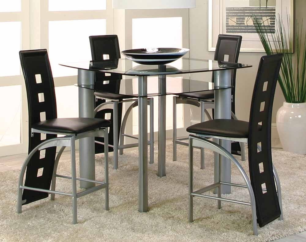 Valencia 5 Piece Counter Height Dining Set | American Freight For Newest Valencia 3 Piece Counter Sets With Bench (Image 17 of 20)