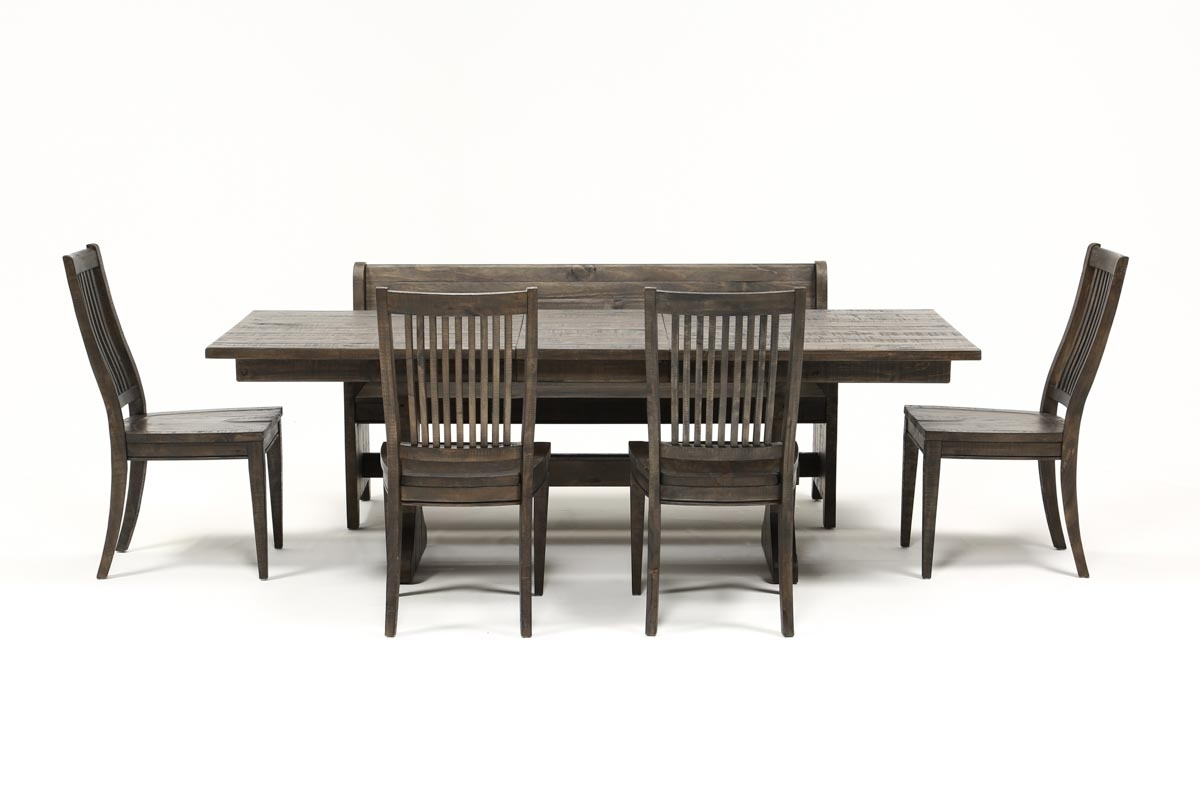 Valencia 72 Inch 6 Piece Dining Set | Living Spaces For Most Recently Released Valencia 72 Inch Extension Trestle Dining Tables (Photo 2 of 20)