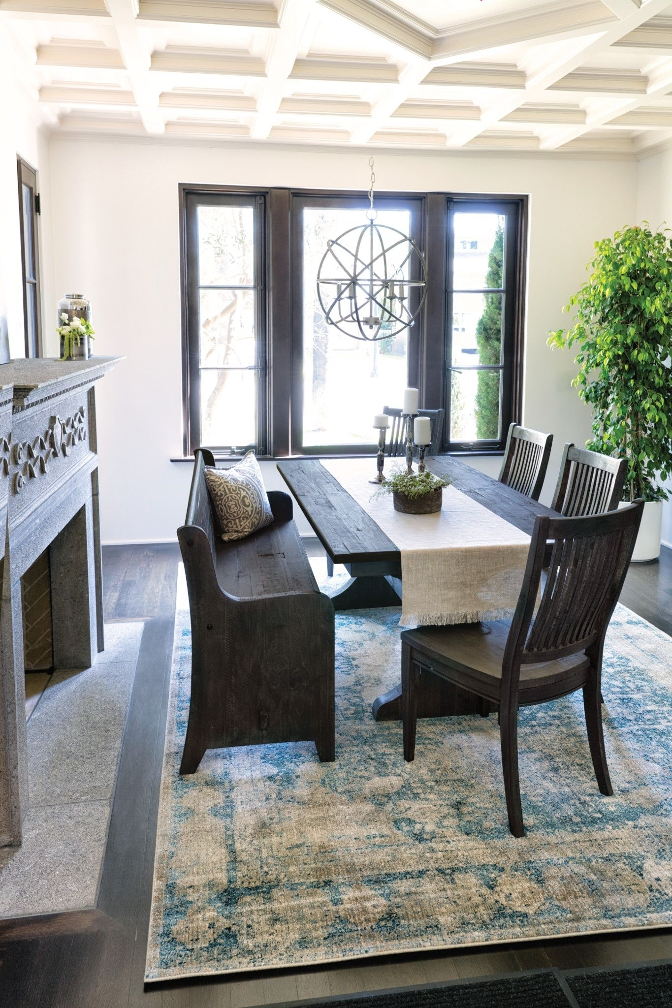 Valencia 72 Inch 6 Piece Dining Set | Pinterest | Church Pew Bench Inside 2018 Valencia 72 Inch 7 Piece Dining Sets (View 3 of 20)